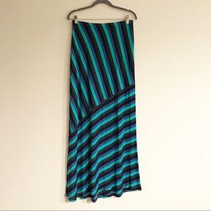 Matty M Striped Maxi Skirt - Size M